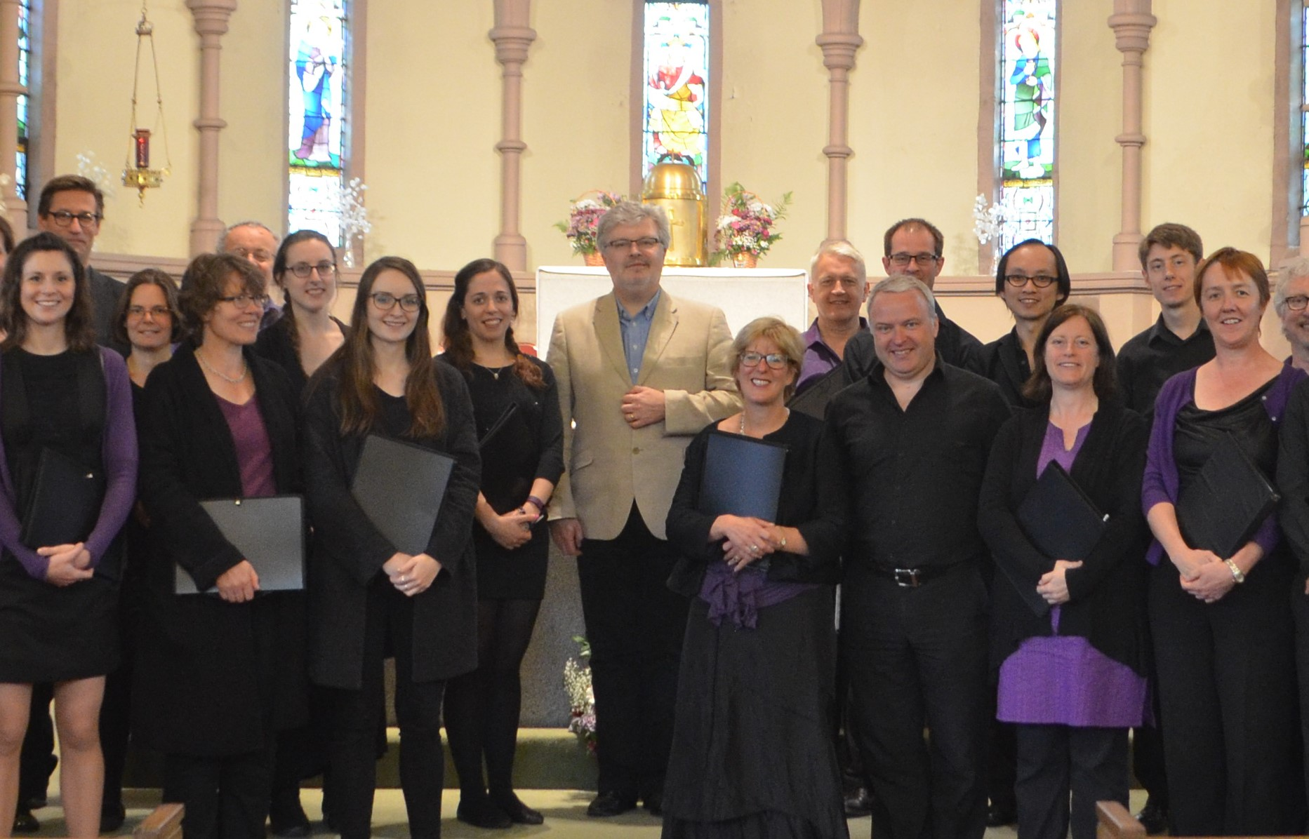 The choir with its new Patron, Sir James Macmillan